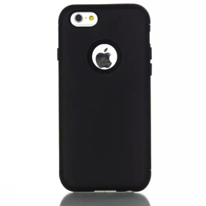 Rubberized Plastic + Silicone Hybrid Case for iPhone 6 6s 4.7 - Black