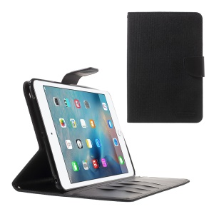 MERCURY GOOSPERY Canvas Leather Flip Case for iPad Mini 3/2/1 - Black