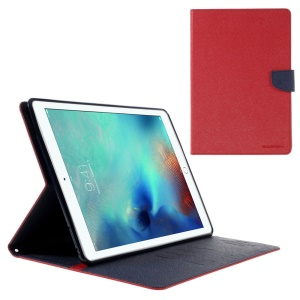 MERCURY GOOSPERY Wallet Leather Cover for iPad Pro 9.7 inch - Red
