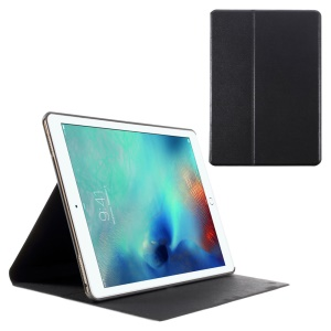 Sand-like Texture Stand Leather Case for iPad Pro 9.7 inch - Black