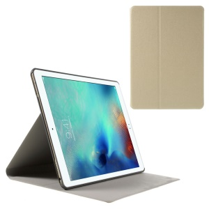 Sand-like Texture Stand Leather Flip Case for iPad Pro 9.7 inch - Champagne