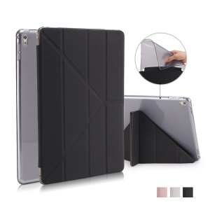 Origami Stand Leather Smart Case for iPad Pro 9.7 inch - Black