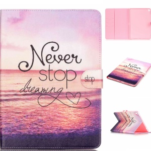Leather Card Holder Shell for iPad Pro 9.7 inch - Never Stop Dreaming