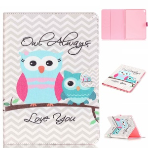 Leather Card Holder Case for iPad Pro 9.7 inch - Adorable Owls
