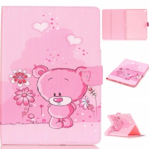 Leather Wallet Tablet Case for iPad Pro 9.7 inch - Pink Bear