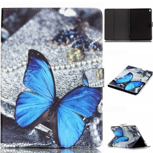 Leather Wallet Card Slot Case for iPad Pro 9.7 inch - Blue Butterfly