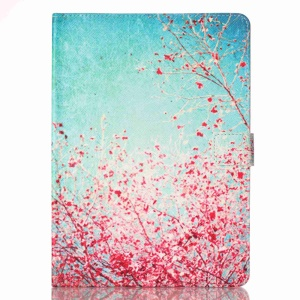 Patterned Leather Wallet Stand Case for iPad Pro 9.7 - Flowering Tree