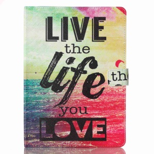 Patterned Leather Card Holder Case for iPad Pro 9.7 - Live The Life You Love