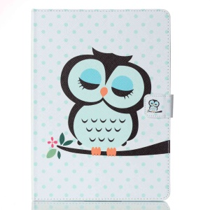 Patterned Leather Wallet Stand Case for iPad Pro 9.7 - Dozing Owl