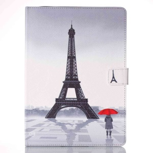 Patterned Leather Wallet Stand Case for iPad Pro 9.7 - Eiffel Tower