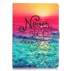 For iPad mini 3/2/1 Patterned Smart Leather Stand Case - Dawn and Never Stop Dreaming