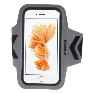 ROMIX Ultrathin Sports Running Armband for iPhone 6s /6 with Reflective Strip - Black