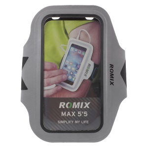 ROMIX Light Reflection Slim Sports Armband for iPhone 6s Plus/6 Plus - Black
