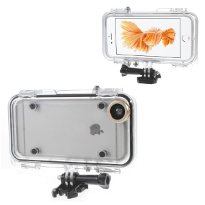 Outdoor Sports Waterproof Case with Wide Angle Lens for iPhone 6s/6 - Gold