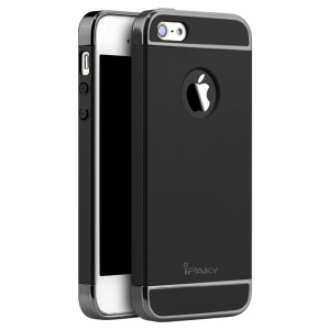 IPAKY Form-fitting PC Hard Back Case for iPhone SE/5s/5 - Black