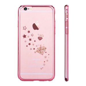 DEVIA Crystal Starry Series Rhinestone Hard PC Case for iPhone 6s Plus / 6 Plus - Rose Gold