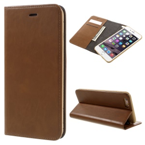 Detachable 2-in-1 Auto-absorbed Leather Shell for iPhone 6s / 6 - Brown