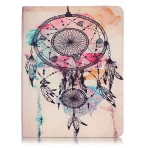Patterned Leather Wallet Stand Shell for iPad 2/3/4 - Dream Catcher