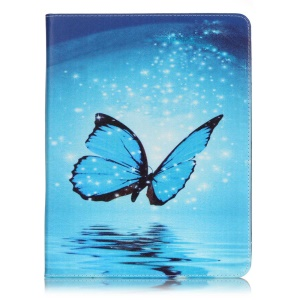 Patterned Leather Wallet Stand Phone Cover for iPad 2/3/4 - Dazzling Butterfly