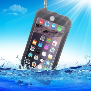 IP-68 PC TPU Water-proof Sealed Phone Case for iPhone 6s Plus/6 Plus - Black