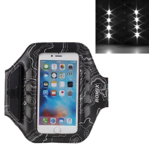 ROMIX LED Phone Sports Arm Band  for iPhone 6s Plus/6 Plus  with Touch Screen and Charging Port - Black