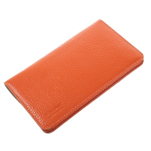 G-CASE Elegant Series Cowhide Leather Wallet Cover for iPhone 6s/6, Size: 153 x 75mm - Orange