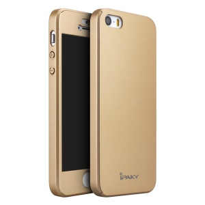 IPAKY Voller Schutz Fall Hardcover Für IPhone Se / 5s / 5 - Gold