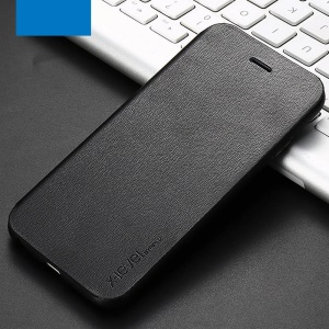 X-LEVEL Form-fitting Flip Stand Leather Case for iPhone 6s/6 - Black