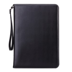 For iPad Pro 9.7 Smart Leather Flip Case Cover with Lanyard - Black