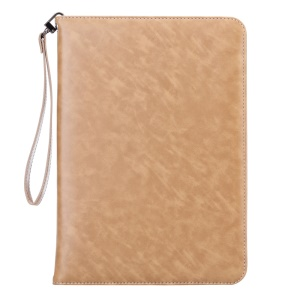 Smart Leather Stand Case Cover with Lanyard for iPad Pro 9.7 - Gold