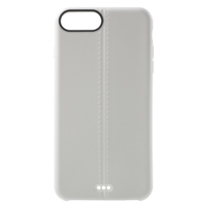 Double lines Matte TPU Phone Cover for iPhone 7 Plus 5.5 inch - White