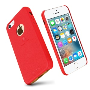 LENUO Music Case II PU Leather Coated PC Cover for iPhone SE/5s/5 - Red