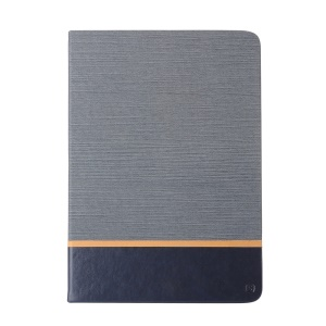 Assorted Color Linen Stand Leather Smart Case for iPad Pro 9.7 inch - Dark Grey