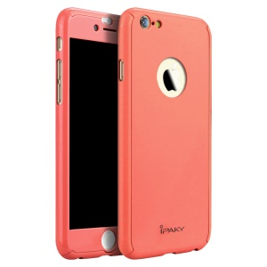 IPAKY PC Hard Shell Full Protection Cover for iPhone 6s Plus/6 Plus - Red