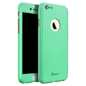 IPAKY PC Hard Shell Protector Completo Volver Funda para iPhone 6s Plus / 6 Plus - Cian
