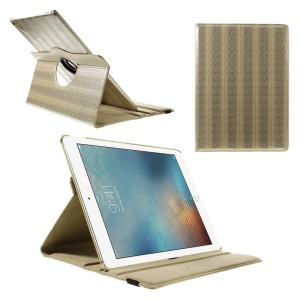 Snake Skin Rotary Stand Smart Tablet Case for iPad Pro 12.9 inch - Gold