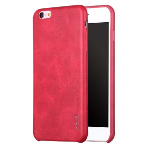 X-LEVEL Vintage Leather revestido duro tampa do telefone para o iPhone 6s / 6 - Red