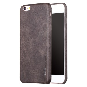 X-LEVEL Vintage Leather Coated Hard Shield Case para iPhone 6s / 6 - café