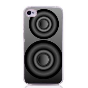 Creative Glossy PC Case for iPhone 4 4s - Loudspeaker