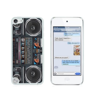 Creative Glossy Plastic Case for iPod Touch 5/6 - Nostalgic Tape Recorder