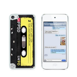 Creative Glossy Plastic Case for iPod Touch 5/6 - Yellow LH90 Cassette Tape