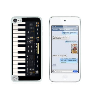 Creative Glossy Plastic Case for iPod Touch 5/6 - Piano Keys