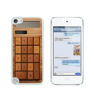 Creative Glossy Plastic Case for iPod Touch 5/6 - Bamboo Calculator