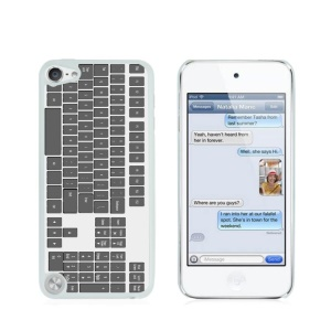 Creative Glossy Hard Shell for iPod Touch 5/6 - Grey Computer Keyboard