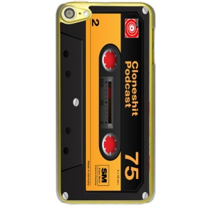 Creative 3D Pattern Glossy Hard Shell Case for iPod Touch 6 - Retro Orange Tape Cassette