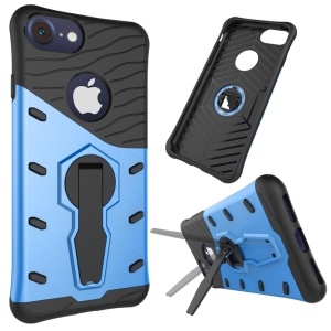 Armor PC + TPU Kickstand Hybrid Cover for iPhone 8/7 4.7 inch - Blue