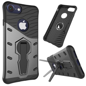 Armor PC + TPU Kickstand Hybrid Cover Case for iPhone 8 Plus / 7 Plus 5.5 inch - Grey