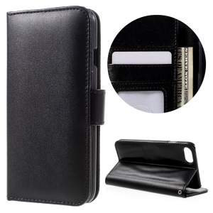 Wallet Stand Leather Folio Phone Case para iPhone 7 4.7 inch - negro