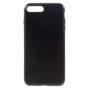 Crazy Horse Leather Coated TPU Case for iPhone 7 Plus 5.5 inch - Black