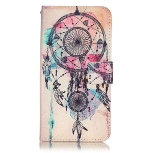 Patterned Leather Wallet Case for iPhone 8 Plus / 7 Plus 5.5 inch - Dream Catcher Feather